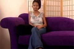 Snaživá ebony Mya se nechá ošoustat během pohovoru