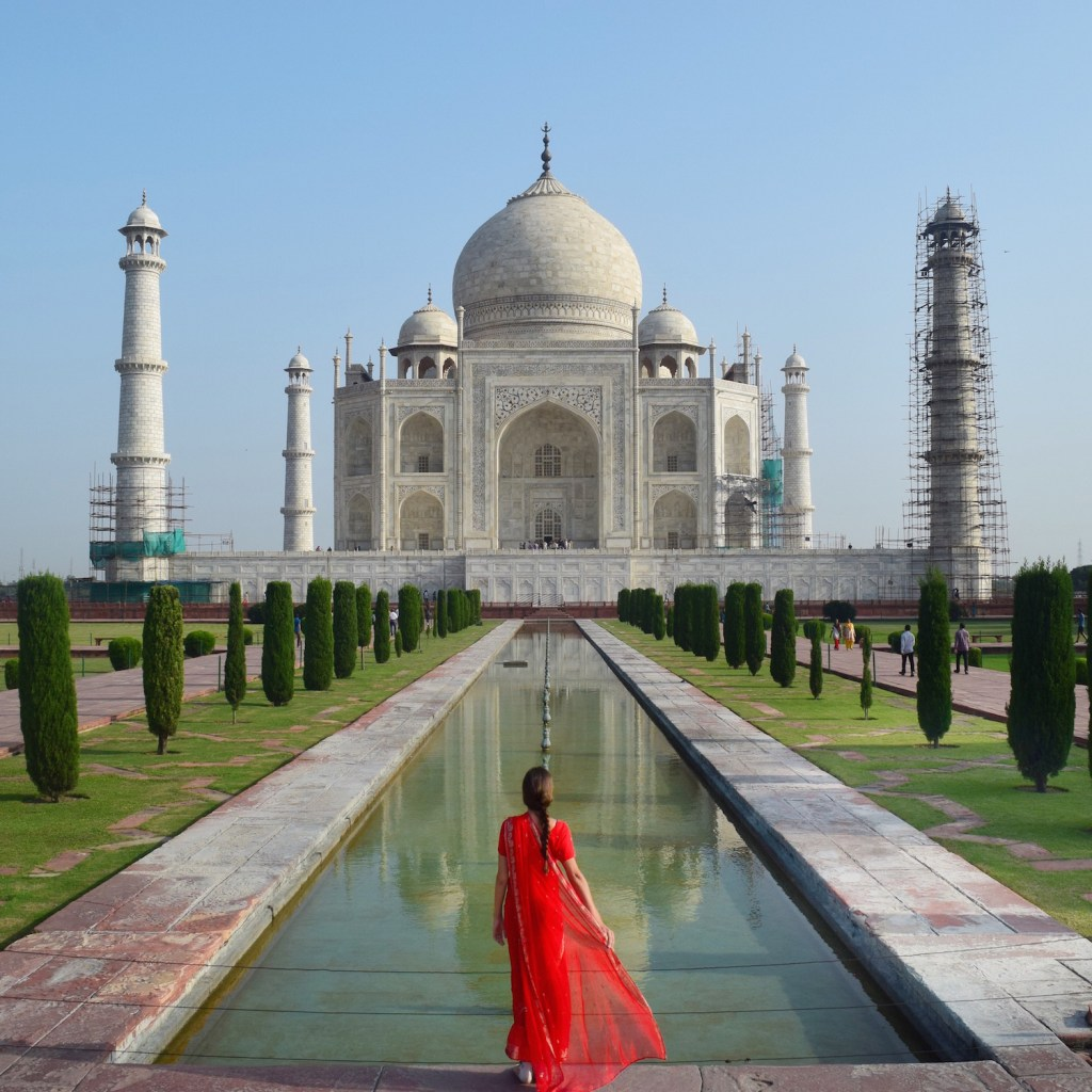 The Taj Mahal in all its glory. http://travelwheretonext.com
