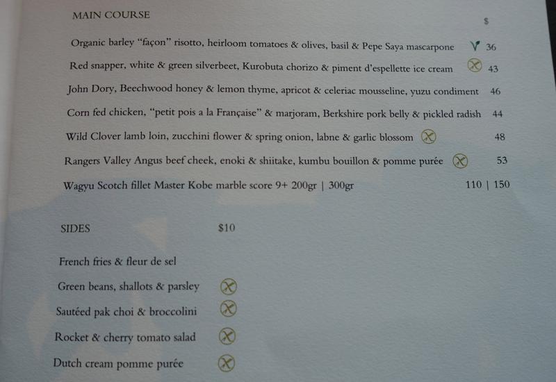 Review Park Hyatt Sydney The Dining Room Restaurant