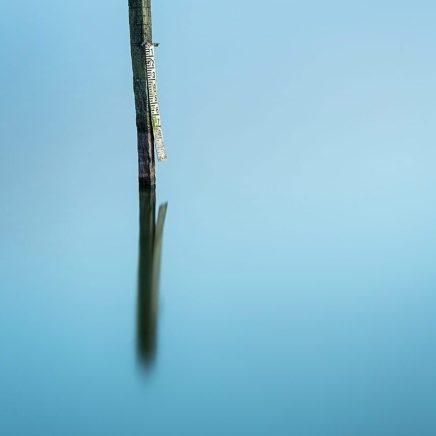 Long exposure of post in Startops End reservoir