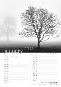 Damian Ward Photography Calendar 2018 January