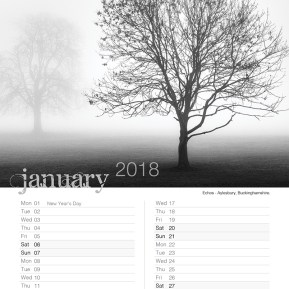 Damian Ward Photography Calendar 2018 January