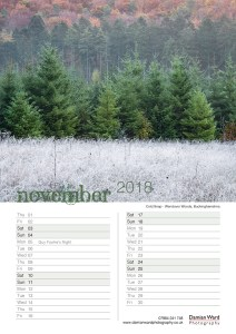 Damian Ward Photography Calendar 2018 November