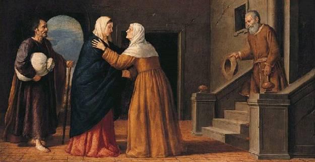 La Visitation École française (?), XVIIe siècle, National Gallery, Londres.