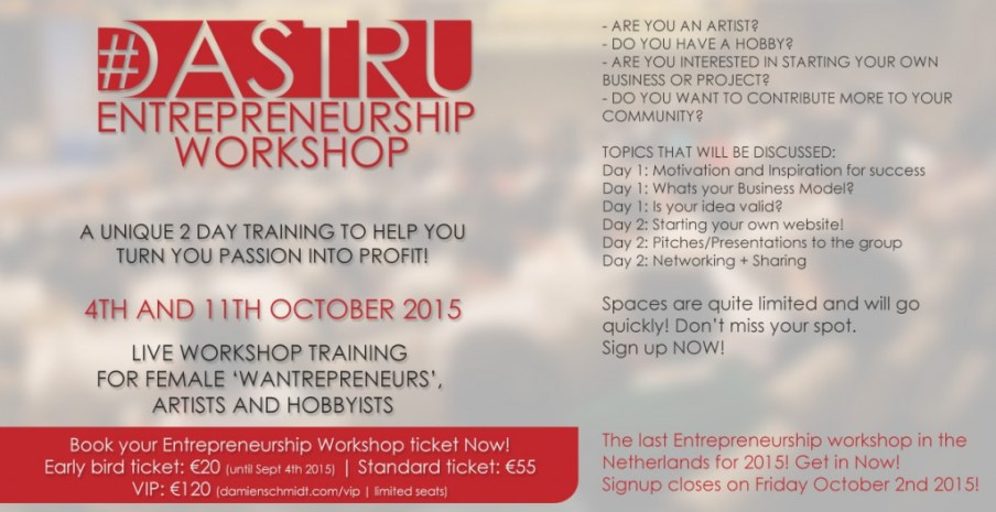 dastru entrepreneurship workshop october 2015 the hague