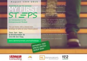 MyFirstSteps workshop flyer august 13 den haag