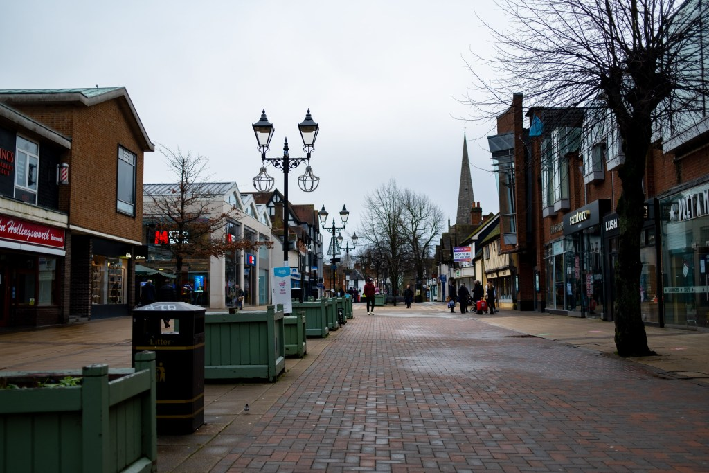 Solihull High Street is virtually empty