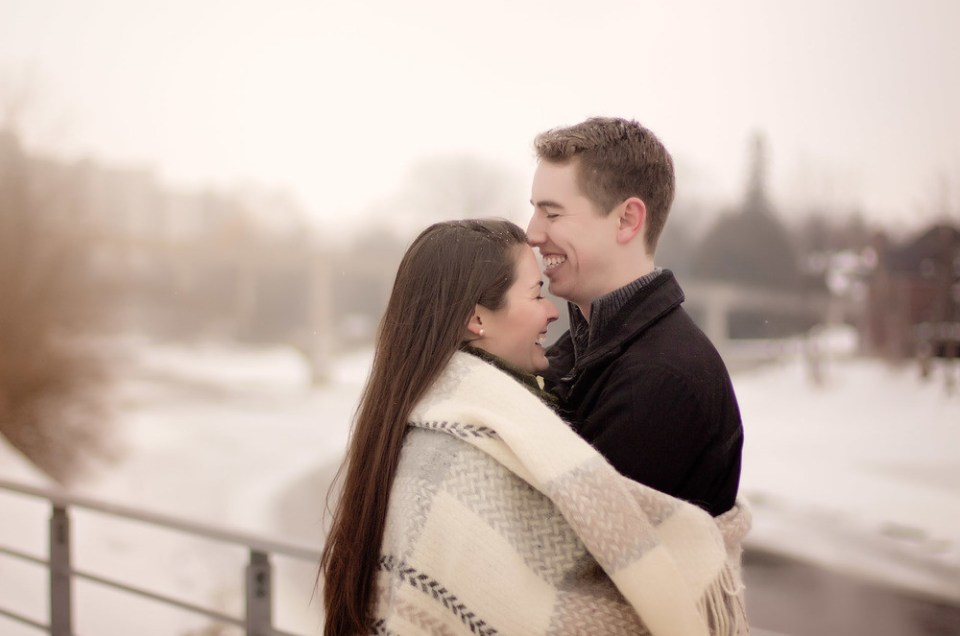 Danielle and Chris: Winter Engagement In Guelph