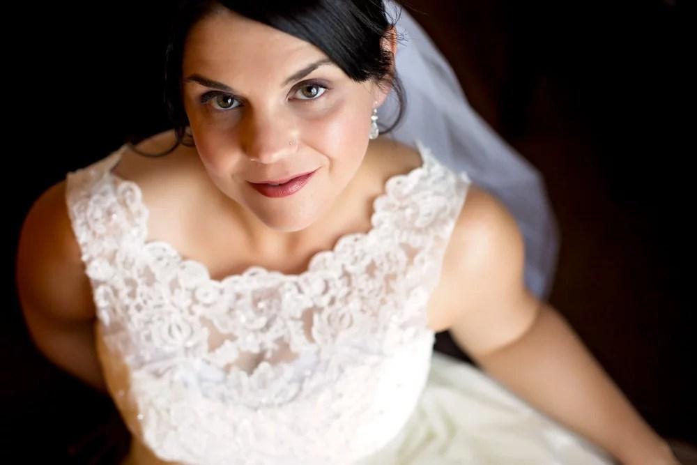 Portrait of Bride getting ready Otellos Centre Oakville Wedding