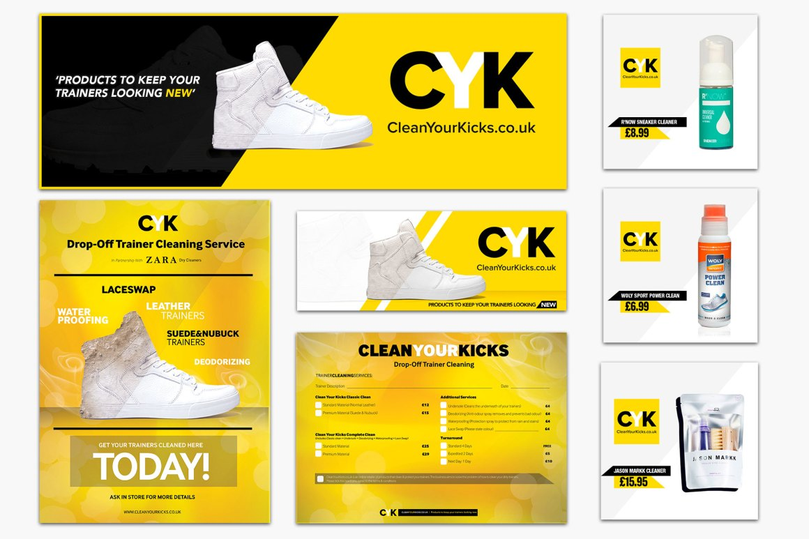 clean your kicks branding