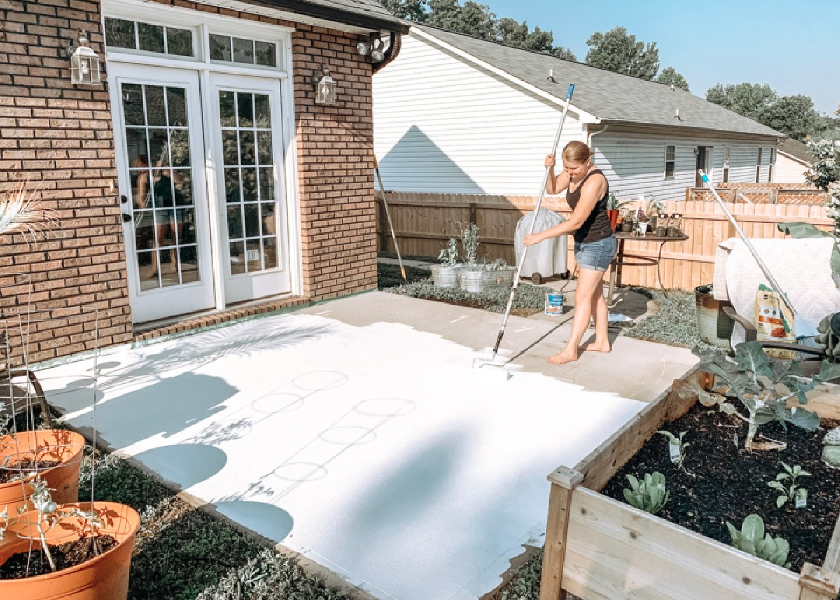 how i painted our concrete patio using