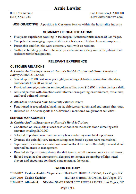 industry resume examples resume examples