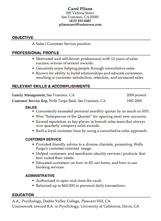 imagerackus pleasant resume sample sales customer service job