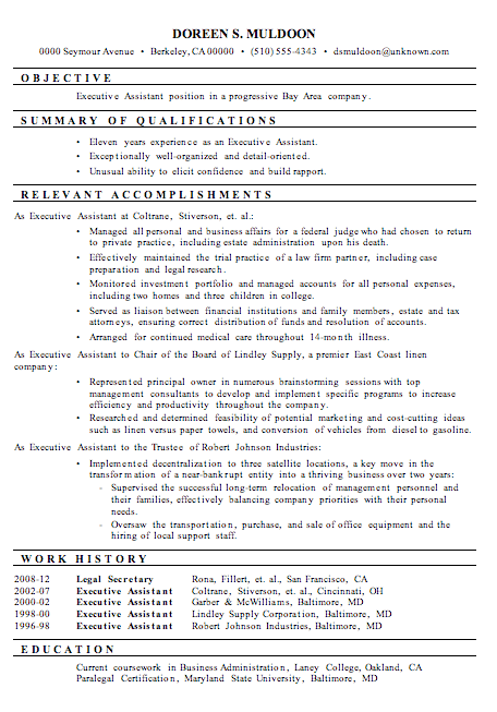 resume sample for secretary resume sample secretary resume format