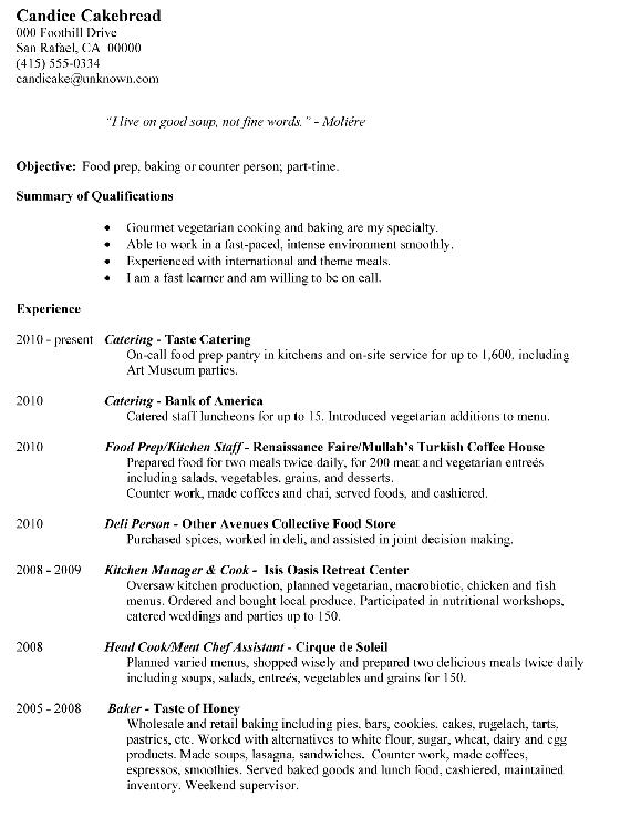 Chronological-Resume-Sample-Food-Prep-Baking-Counter-Person