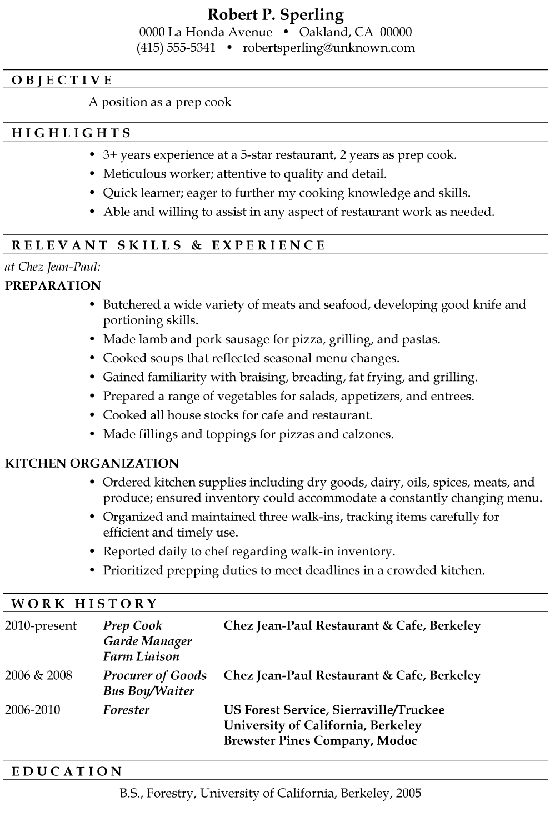 Functional Resumes Examples. Examples Of Chronological Resume And