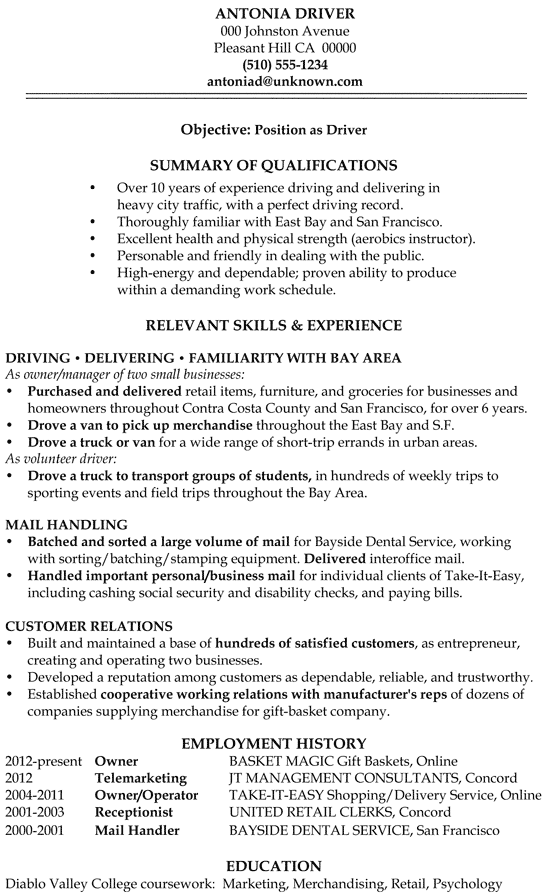 functional resume samples