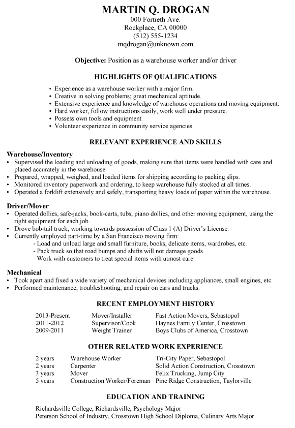 Resume coursework no degree