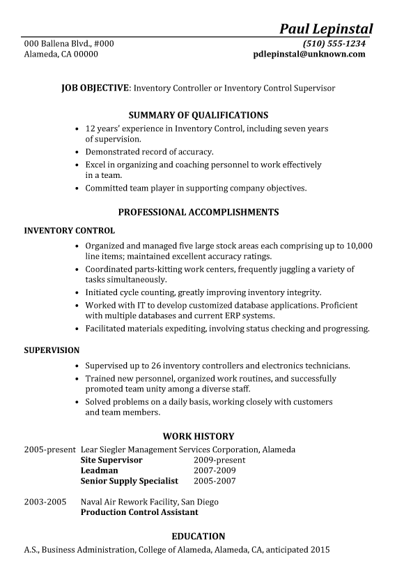 Sample Resume Document Controller. Controller Resume Samples