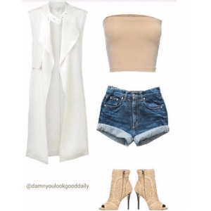 open toe booties with shorts
