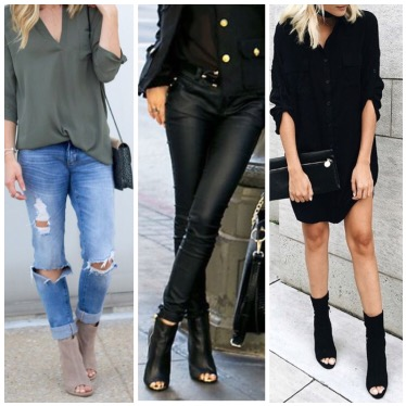 b083140c0e 29 Killer Open Toe Booties Outfit Ideas to decide How and What to ...