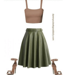 cute-outfit-ideas-green-maxi-skirt