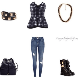 cute-outfit-ideas-jeans-plaid-shirt