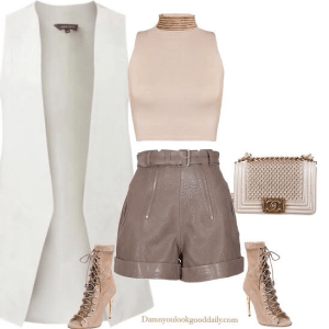balmain-shoes-necklace-leather-shorts