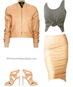 bomber-jacket-a-pencil-skirt