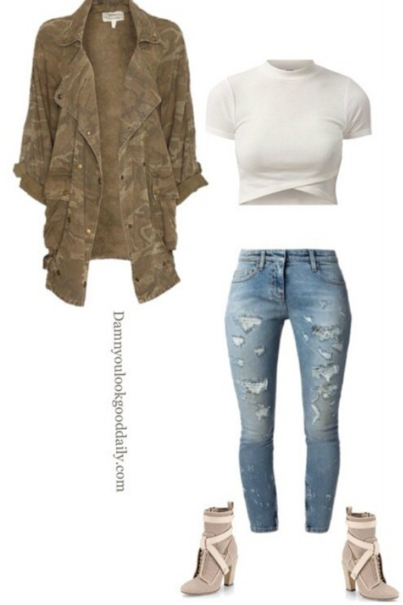 fall-winter-outfit-idea-ripped-jeans-fendi-ankle-boots-camoflauge-jacket