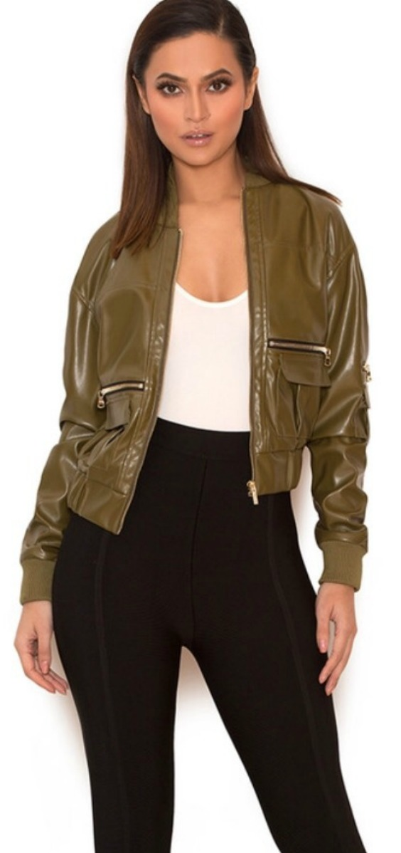 green-vegan-leather-womens-bomber-jacket