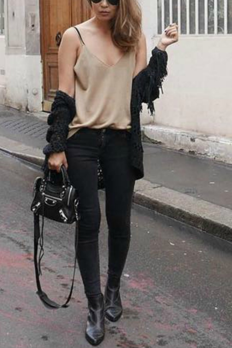 Cute Outfits With Jeans And Black Boots