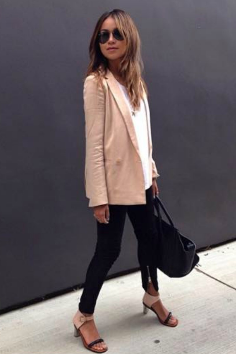 sincerely-jules-fall-outfit-casual-streetstyle-blush-blazer-leather-pants