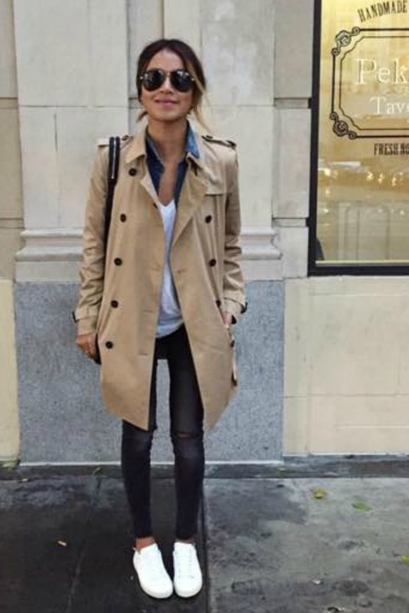 sincerely-jules-fall-outfit-casual-streetstyle-gray-skinny-jeans-white-sneakers-trench-coat