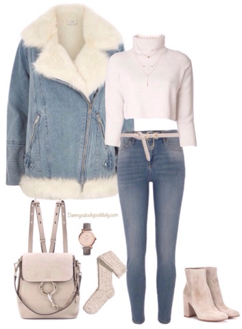 casual-fall-winter-outfit-suede-denim-wool-jacket-blue-jeans-chloe-faye-backpack