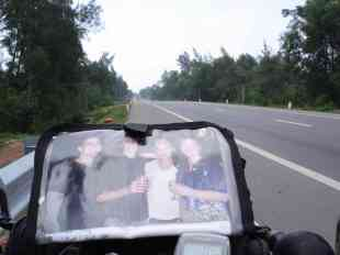 My family riding with me