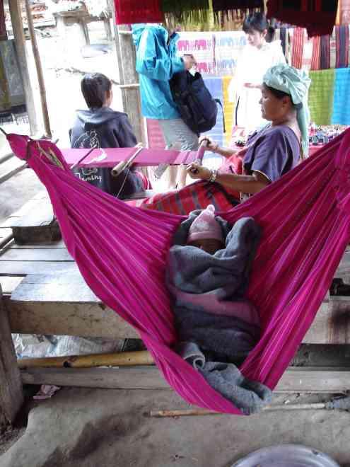 Even babies get hammocks over here