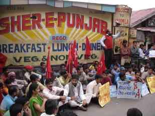 A sit-in in Shimla