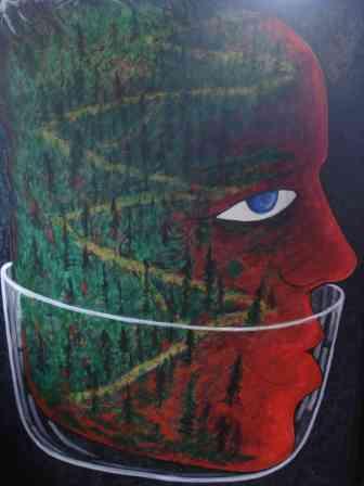 A local artwork at the Naggar art school