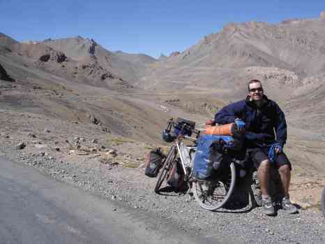 At the top of one 5,000m pass and with another in the background