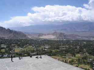 The view from Shanti Stupa is pretty special