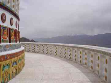 The view from Shanti Stupa