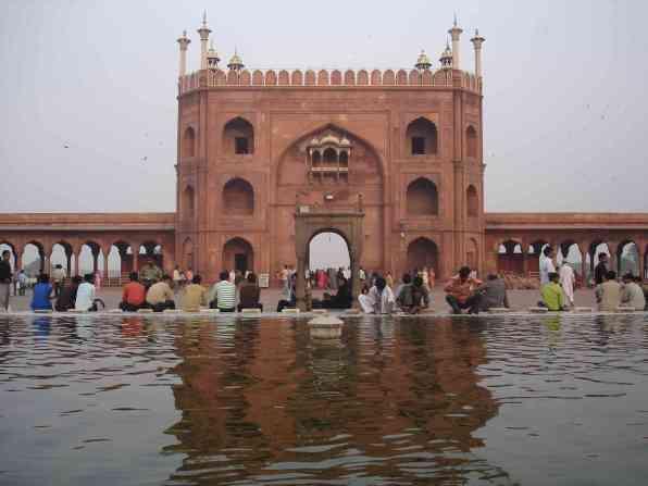 Washing prior to prayers at Jama Masjid