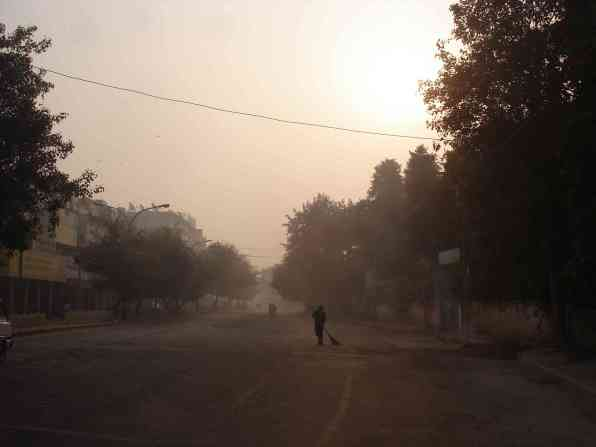 Early morning Delhi on the way to the cric