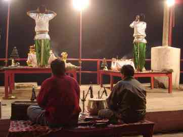 Another puja held further down the Ganges in Varanasi