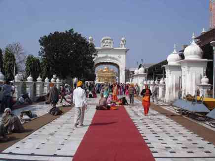 Entry to the sanctuary of the Golden Temple in Amritsar