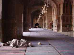 Siesta in the mosque