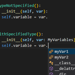 How to specify variable type in Python