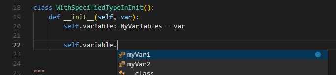 Specified variable type at variable declaration.