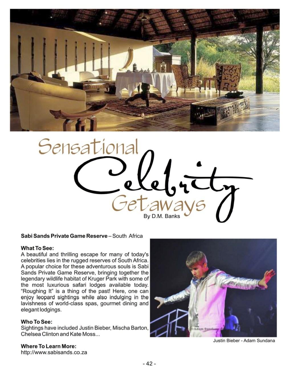 Celebrity Getaways 1 | Damon M Banks